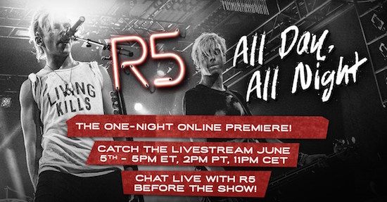 R5 All Day All Night Live Stream Event