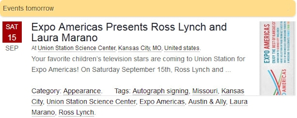 Ross Lynch and Laura Marano at Expo Americas