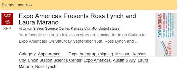 Ross Lynch and Laura Marano at Expo Americas