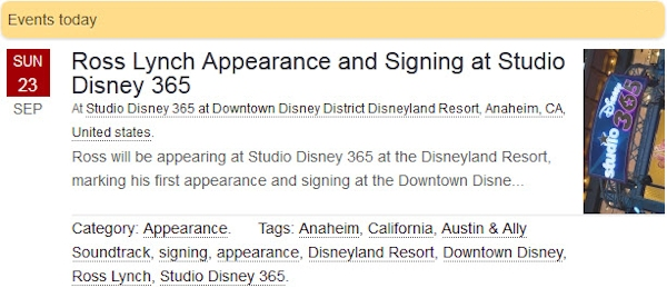 Ross Lynch Appearance and Signing at Studio Disney 365