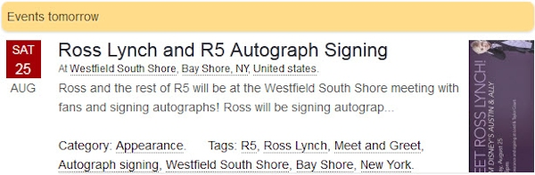 Ross and R5 Autograph Signing at Westfield South Shore New York