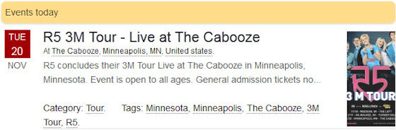 R5 3M Tour - Live at The Cabooze