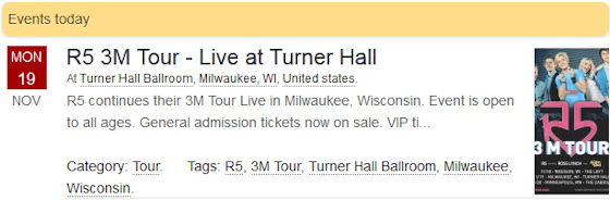 R5 3M Tour - Live at Turner Hall