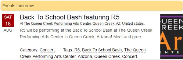 R5 Live at The Queen Creek Performing Arts Center