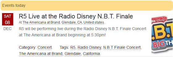 R5 Live at the Radio Disney N.B.T. Finale