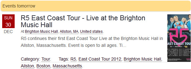 R5 East Coast Tour - Live at the Brighton Music Hall