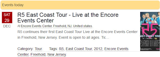 R5 East Coast Tour - Live at The Encore Events Center