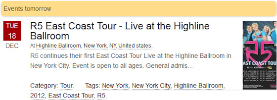 R5 East Coast Tour - Live at the Highline Ballroom