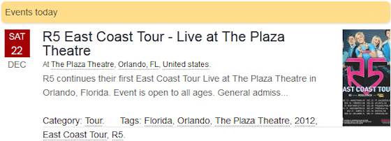 R5 East Coast Tour - Live at The Plaza Theatre