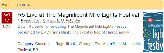 R5 Live at The Magnificent Mile Lights Festival