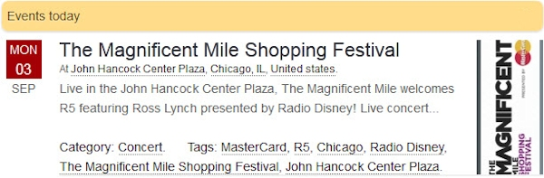 R5 Live at The Magnificent Mile Shopping Festival