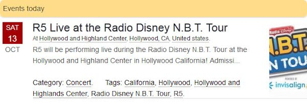 R5 Live at the Radio Disney N.B.T. Tour