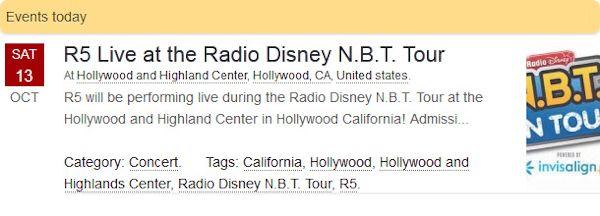 R5 Live at the Radio Disney N.B.T. Tour