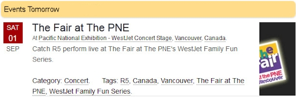 R5 Live at The Fair at The PNE Vancouver