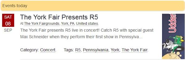R5 Live at The York Fair