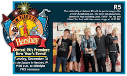 New Years Eve in Hershey, PA with R5