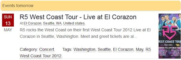 R5 West Coast Tour 2012