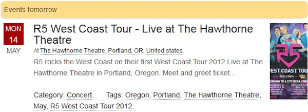 R5 West Coast Tour 2012