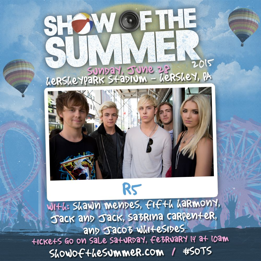 R5 performing at show of the summer concert event june 28th home show of the summer 2015 kristyandbryce Images